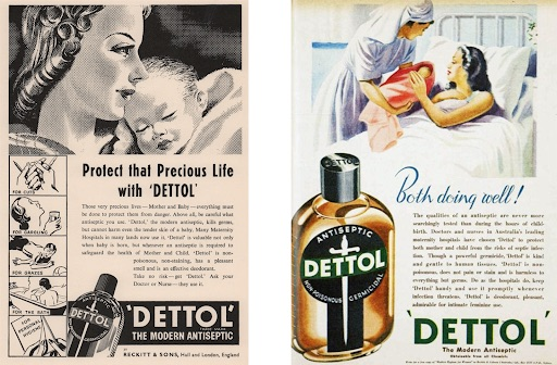 Two Dettol posters